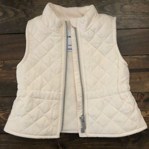 Old Navy White Quilted Vest